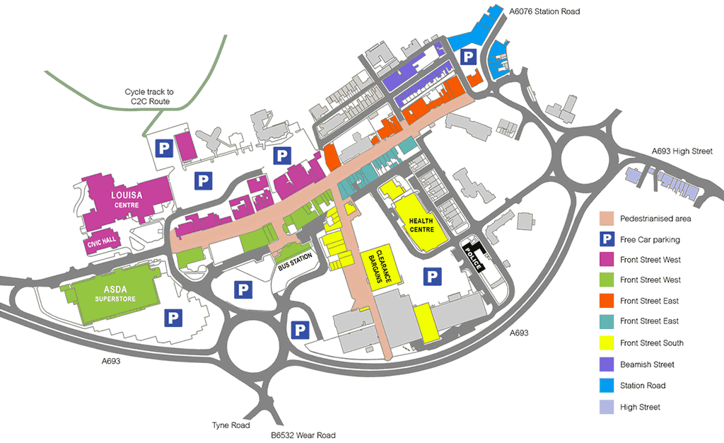 Stanley town centre map